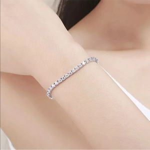 Jewelry - Lab Diamond Stones Tennis Box Clasp Bracelet